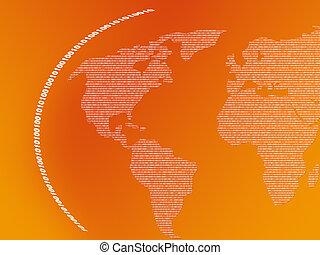 binario, mappa, mondo