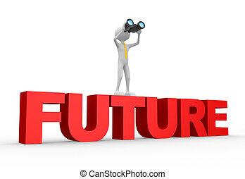 binoculare, parola, futuro