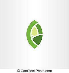 bio, foglia, eco, simbolo, elemento, verde, logotipo, segno, icona