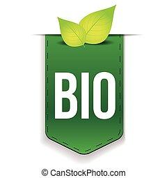 bio, foglia, verde, nastro