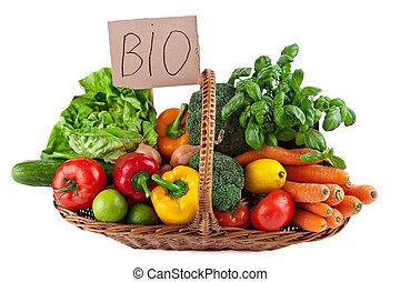 bio, verdura, disposizione