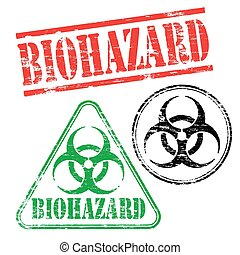 biohazard, francobolli, gomma