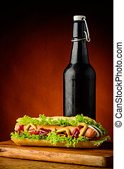 birra, hotdog