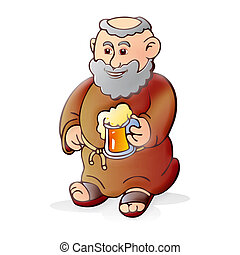 birra, vecchio, monaco