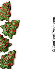 biscotti, albero, natale, fondo