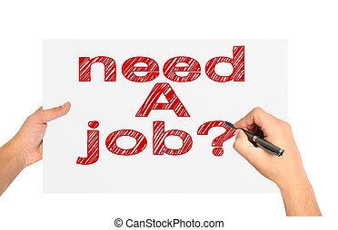 bisogno, lavoro, carta