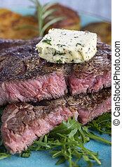 bistecca, cotto ferri, succoso