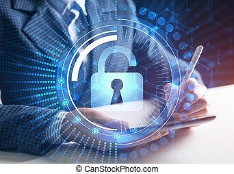 bloccaggio, virtuale, risorse, meccanismo, accesso