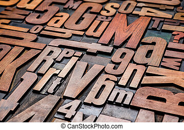 blocchetti legno, letterpress, stampa, vecchio, tipo