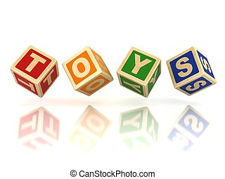 blocchi, giocattoli, legno