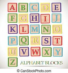 blocco alfabeto, illustrazione
