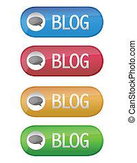 blog, bottone