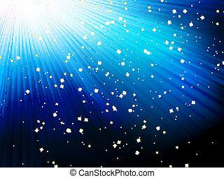 blu, 10, eps, fondo., stelle, strisce