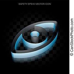 blu, 10, fatto, occhio, carta, eps, icon:, protezione, vector., 3d, trasparente, uggia