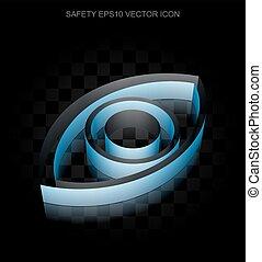 blu, 10, fatto, occhio, intimità, carta, eps, icon:, vector., 3d, trasparente, uggia