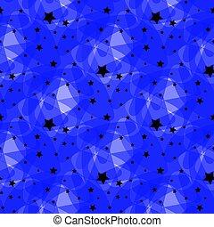 blu, 10, fatto, stelle, modello, eps, vettore, sfondo nero