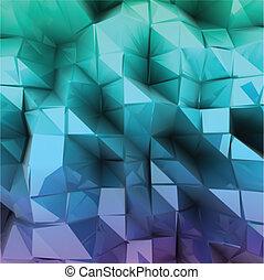 blu, abstract., vettore, triangolo, fondo