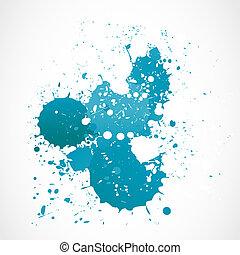 blu, acquarello, astratto, schizzo