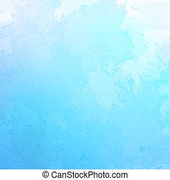 blu, acquarello, astratto, vettore, fondo
