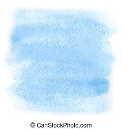 blu, acquarello