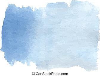 blu, acquarello, pendenza, luce