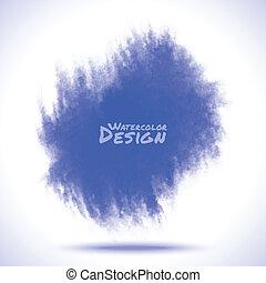 blu, acquarello, splatter