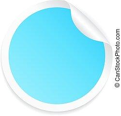 blu, adesivo, rotondo