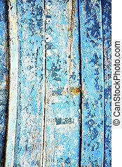 blu, arrugginito, chiodo