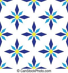 blu, arte, modello, astratto, seamless, geometrico