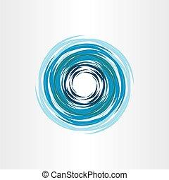 blu, astratto, acqua, vortice, fondo, icona