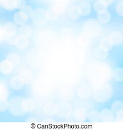 blu, astratto, bokeh, fondo