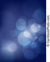 blu, astratto, bokeh, vettore, fondo, morbido, blurry