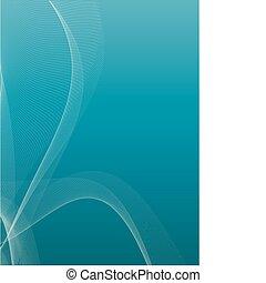 blu, astratto, curva, fondo