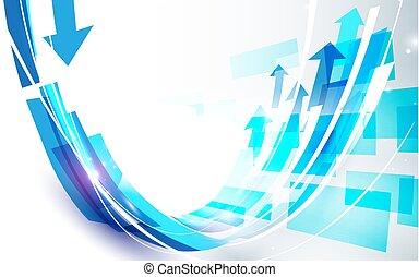 blu, astratto, curva, forma, vettore, disegno, fondo, linea