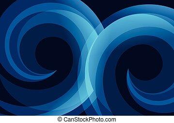 blu, astratto, curva, linea, fondo