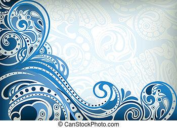 blu, astratto, curva