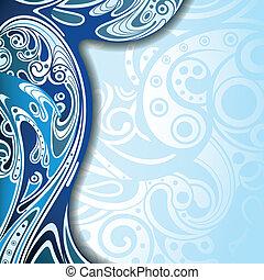 blu, astratto, fondo, curva