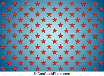 blu, astratto, fondo, stelle, rosso