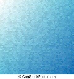 blu, astratto, fondo, triangolo
