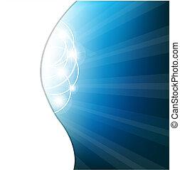 blu, astratto, fondo, vettore, illustrazione