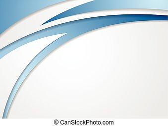 blu, astratto, grigio, fondo, onde, corporativo