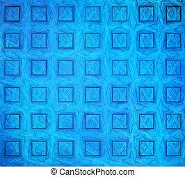 blu, astratto, illustrazione, fondo, squadre, fractal