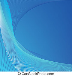 blu, astratto, linee, fondo
