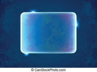 blu, astratto, placeholder, rettangolo
