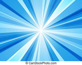 blu, astratto, raggi, carta da parati