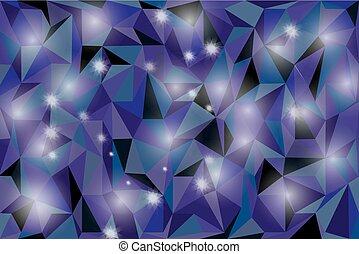 blu, astratto, sfavillante, fondo., stelle, vacanza