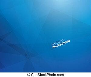 blu, astratto, triangolo, affari