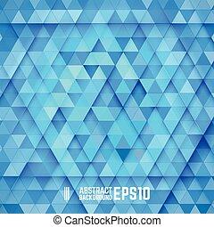 blu, astratto, triangolo, fondo