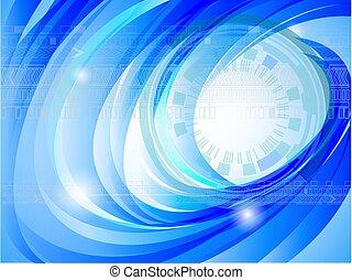 blu, astratto, uggia, fondo, digitale