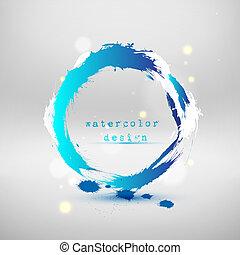 blu, astratto, vettore, circle., illustrazione
